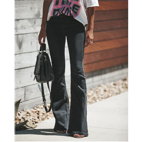 Women wide leg Denim Trousers Vintage jeans