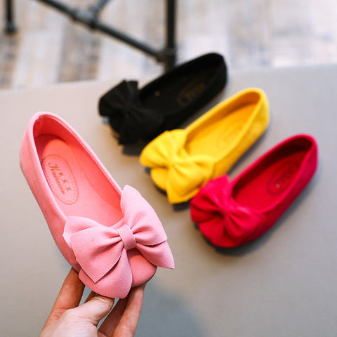Fancy Toddler Bow Flat Shoes