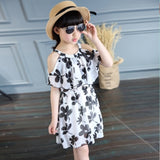 Girl Floral Butterfly Party Dress