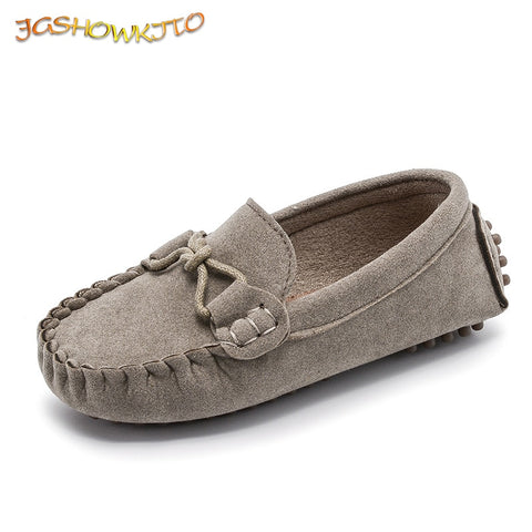 Fashion Kids Shoes For Boys and Girls Leather Shoes Classical All-match Loafers Baby Toddler Boat Shoes Flat