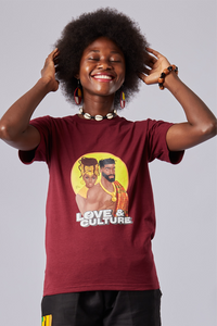 Love & Culture - Maroon Shirt