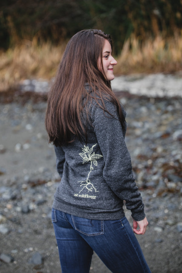 Slate AK Wildflower Triblend Zipped Hoody $65.00