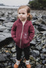 Beach Rose AK Starfish Co. Children's Triblend Zipped Hoody $45.00