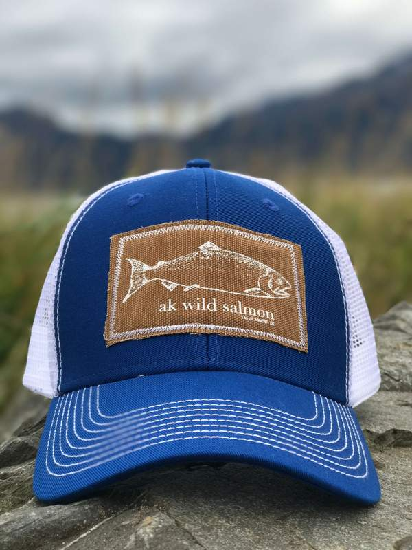 Alaska Blue AK Wild Salmon Patch Hat 35.00