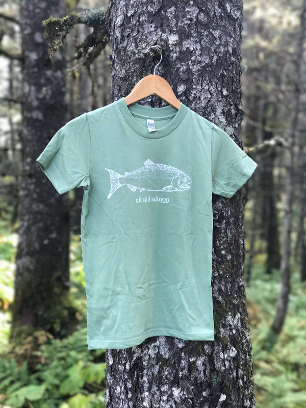 Beach Grass AK Wild Salmon 100% Cotton Short Sleeved Tee $25.00