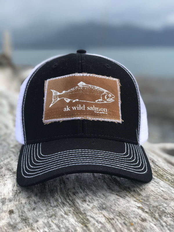 Black AK Wild Salmon Patch Hat 35.00