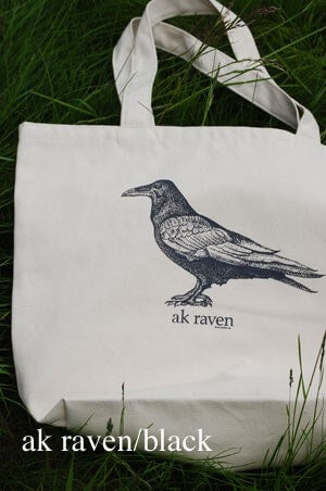 Black AK Raven Tote Bag $25.00