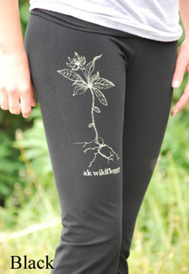 Black AK Wildflower Leggings $50.00