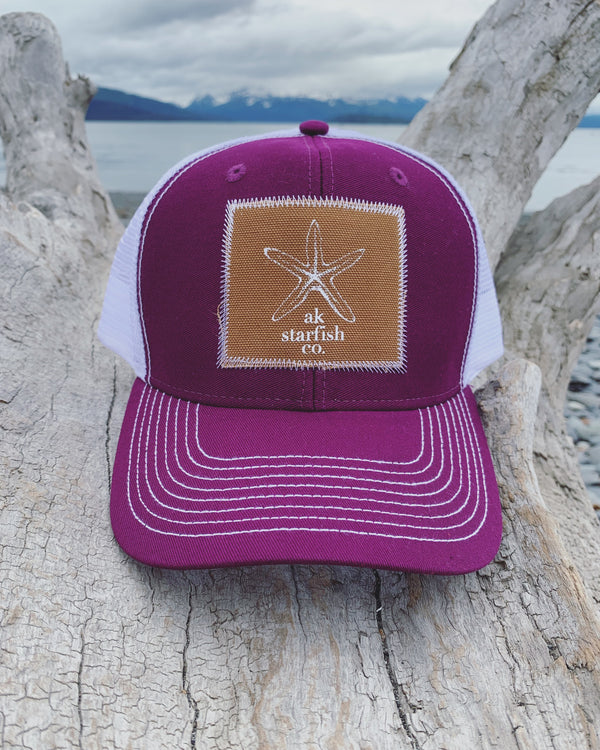 Beach Mussell Shell AK Starfish Co. Patch Hat $35.00