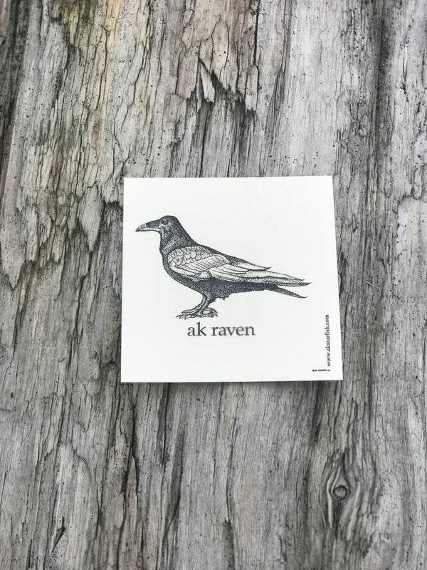 Cream AK Raven Sticker $6.00