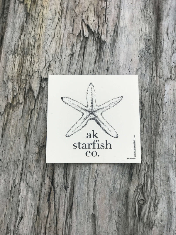 Cream AK Starfish Co. Sticker $6.00