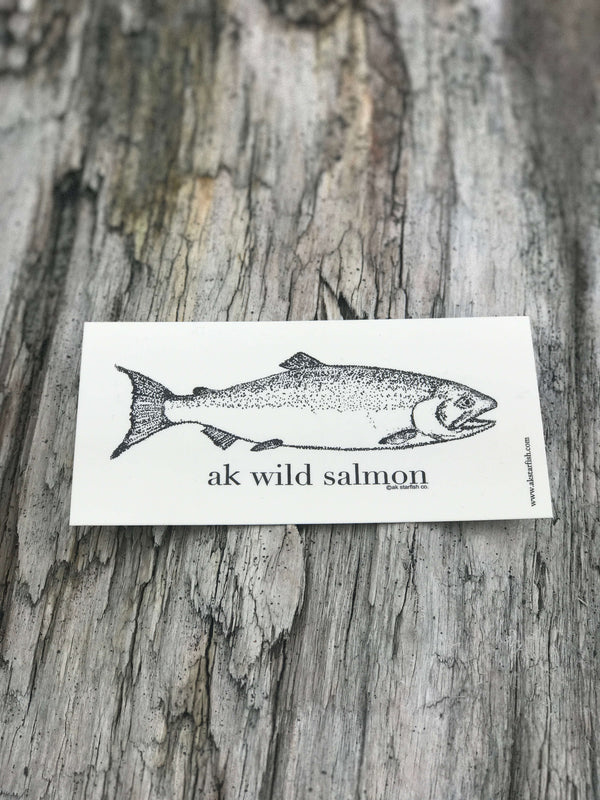 Cream AK Wild Salmon Sticker $6.00