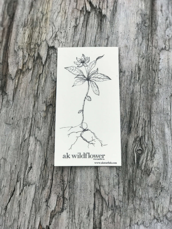 Cream AK Wildflower Sticker $6.00
