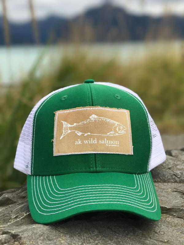 Grass AK Wild Salmon Patch Hat 35.00