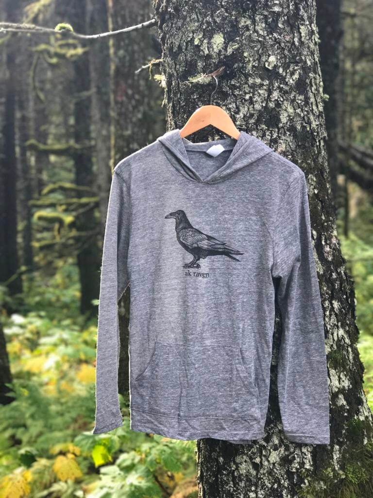 Heather Gray AK Raven $50.00