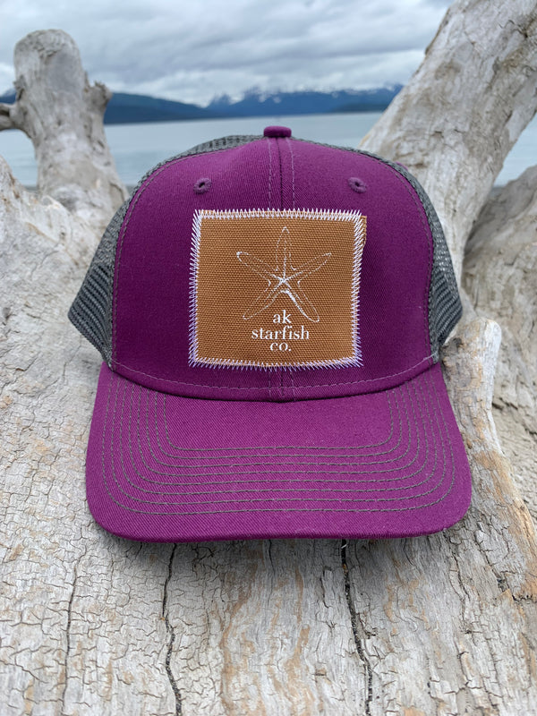 Beach Mussell Shell and Slate AK Starfish Co. Patch Hat $35.00