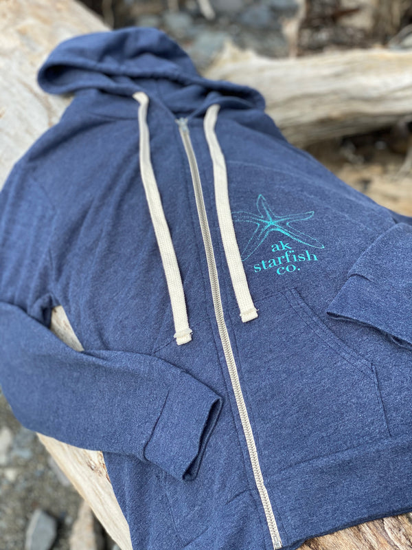 High Tide AK Starfish Co. French Terry Zipped Hoody $65