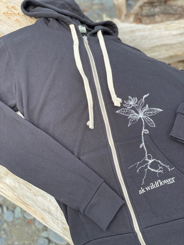 Moonlight AK Wildflower French Terry Zipped Hoody $65