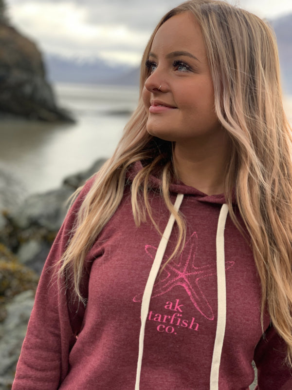 Beach Rose Ak Starfish Co. Pullover Hoody $60.00