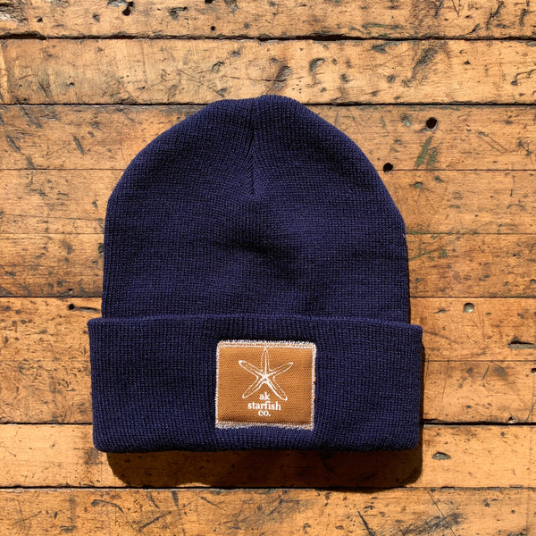 Midnight AK Starfish Co. Patch Beanie $35.00