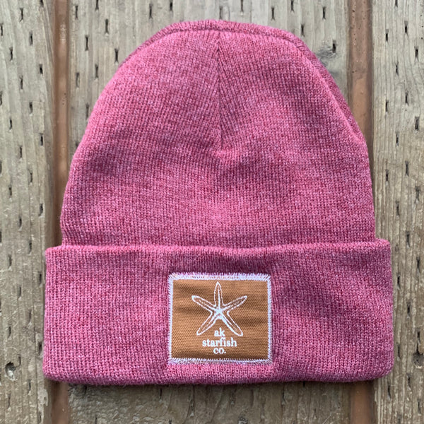 Beach Rose AK Starfish Co. Patch Beanie $35.00