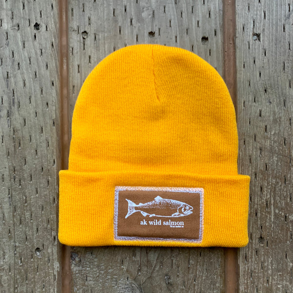Honey AK Wild Salmon Patch Beanie $35.00