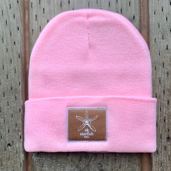 Winter Pink AK Starfish Co. Patch Beanie 35.00