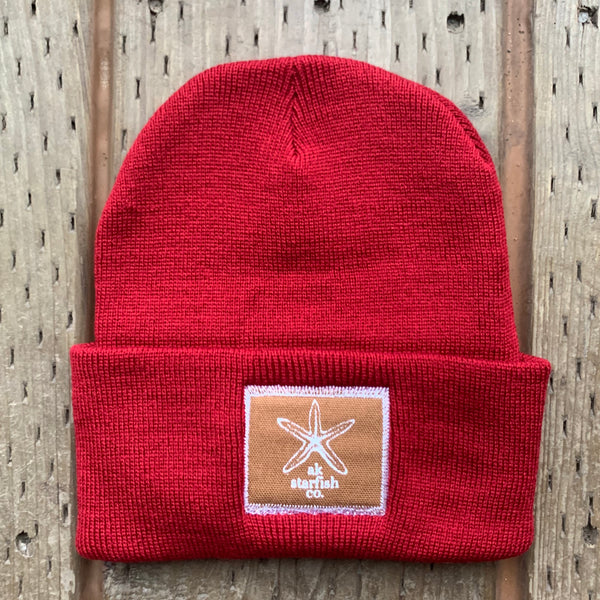 Cranberry AK Starfish Co. Patch Beanie 35.00
