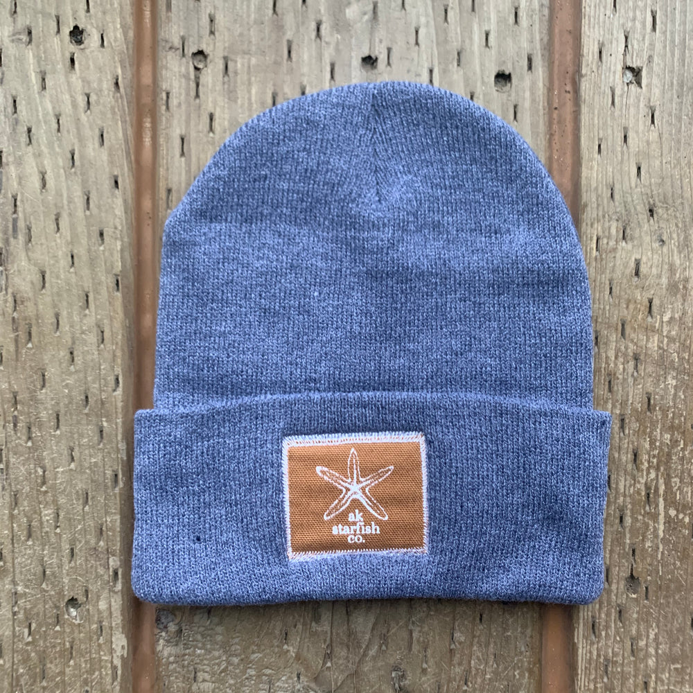 Ice Fishing AK Starfish Co. Patch Beanie $35.00