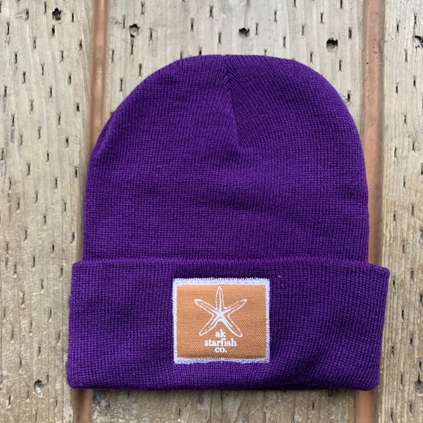 Violet AK Starfish Co. Patch Beanie $35.00