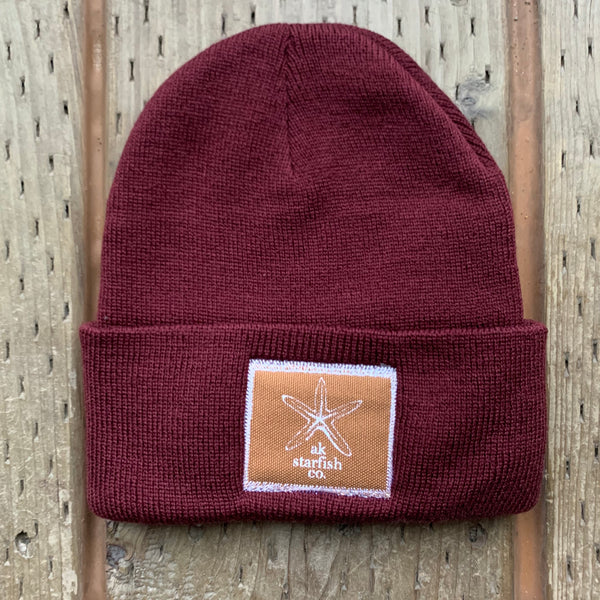 Rosehip AK Starfish Co. Patch Beanie $35.00