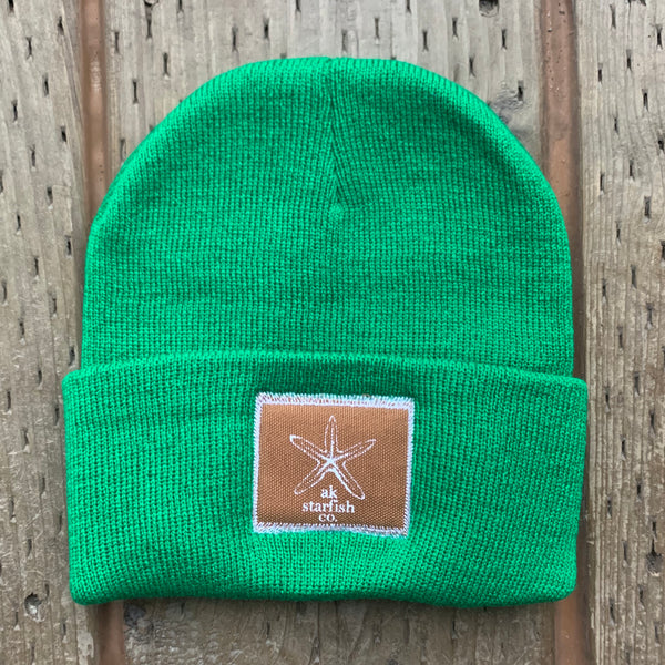 Beach Grass AK Starfish Co. Patch Beanie $35.00