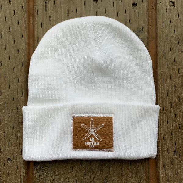 Snow AK Starfish Co Patch Beanie $35.00
