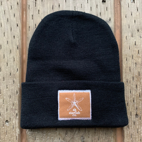 Black AK Starfish Co. Patch Beanie 35.00