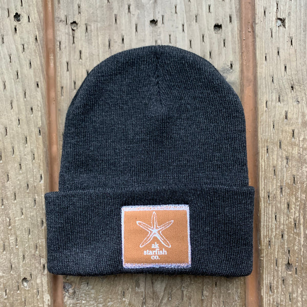 Slate AK Starfish Co. Patch Beanie $35.00