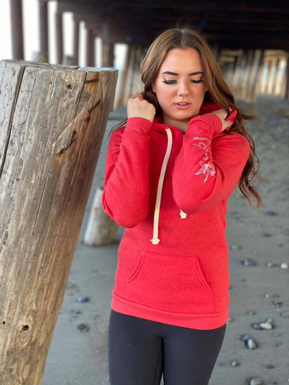 Beach Red AK Wildflower Triblend Pullover Hoody $60.00