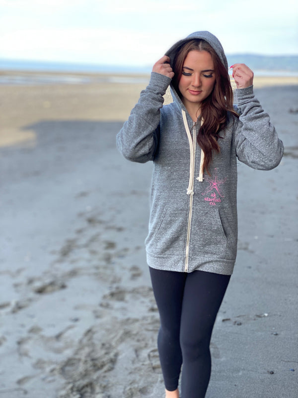 Storm AK Starfish Co. Triblend Zipped Hoody $65.00