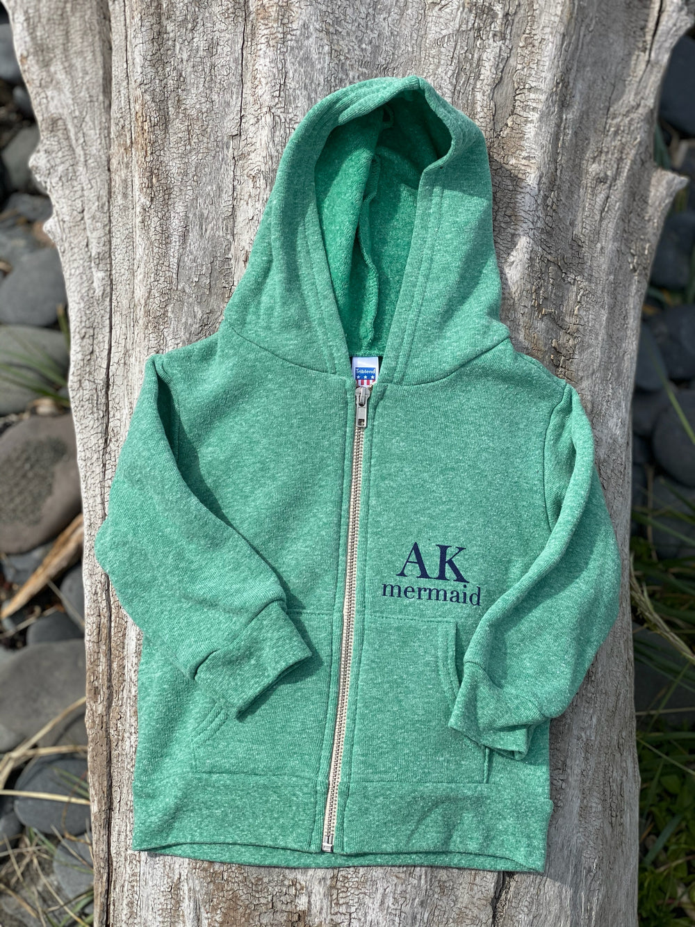 Beach Grass AK Mermaid Children's Triblend Zipped Hoody