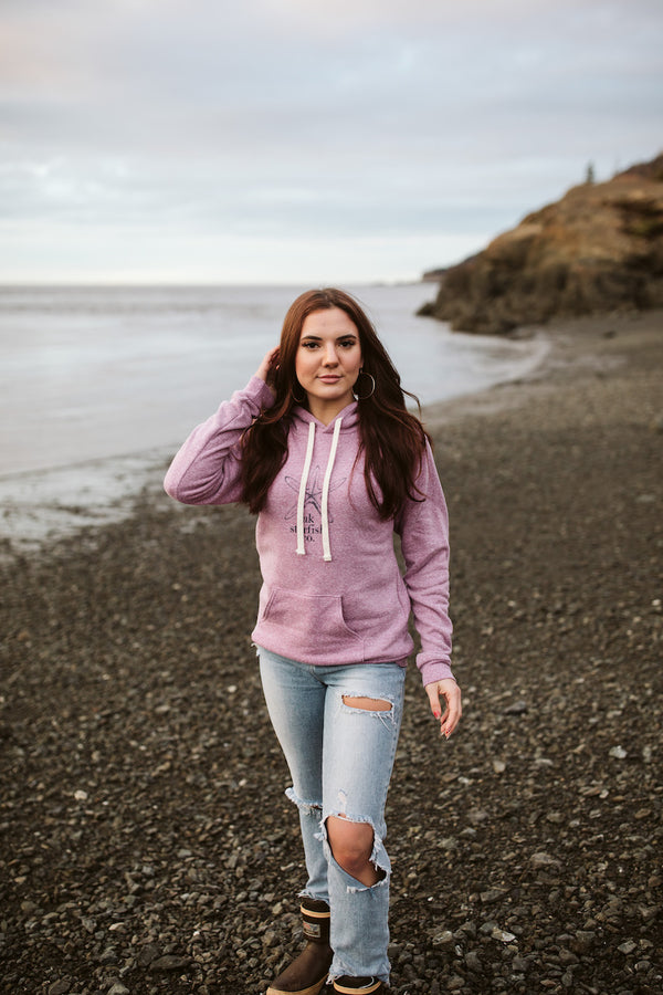 Beach Mussel Shell AK Starfish Co. Triblend Pullover Hoody $60.00