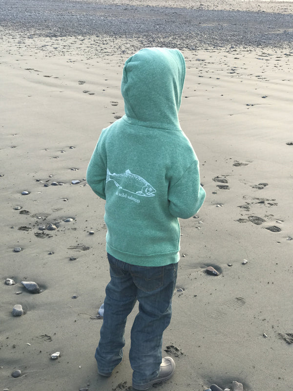 Beach Grass AK Wild Salmon Children's Zipped Hoody $45.00