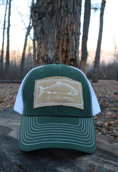 Marine AK Wild Salmon Patch Hat $35.00