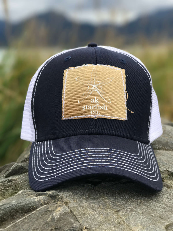 Midnight AK Starfish Co. Patch Hat $35.00