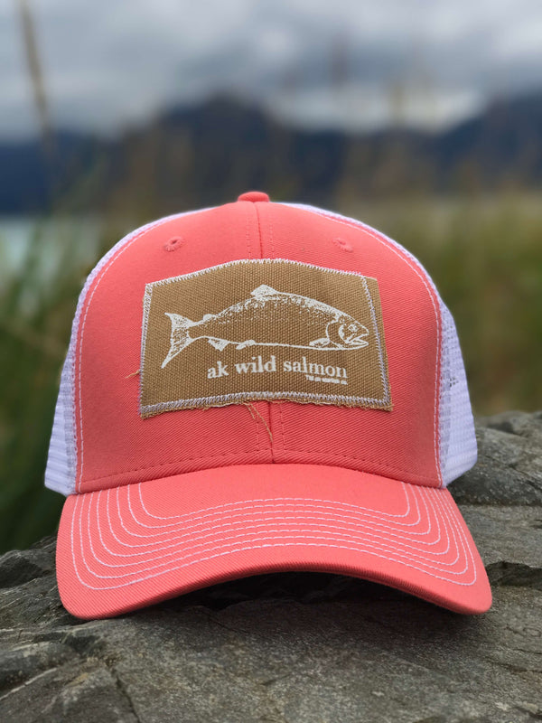 Shrimp AK Wild Salmon Patch Hat $35.00