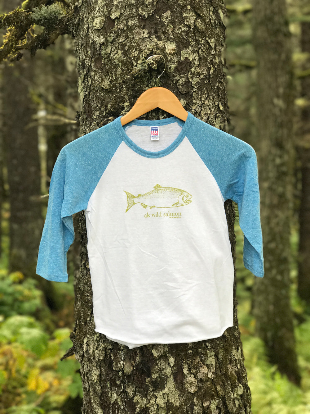 Sky Blue with Moss AK Wild Salmon $27.00