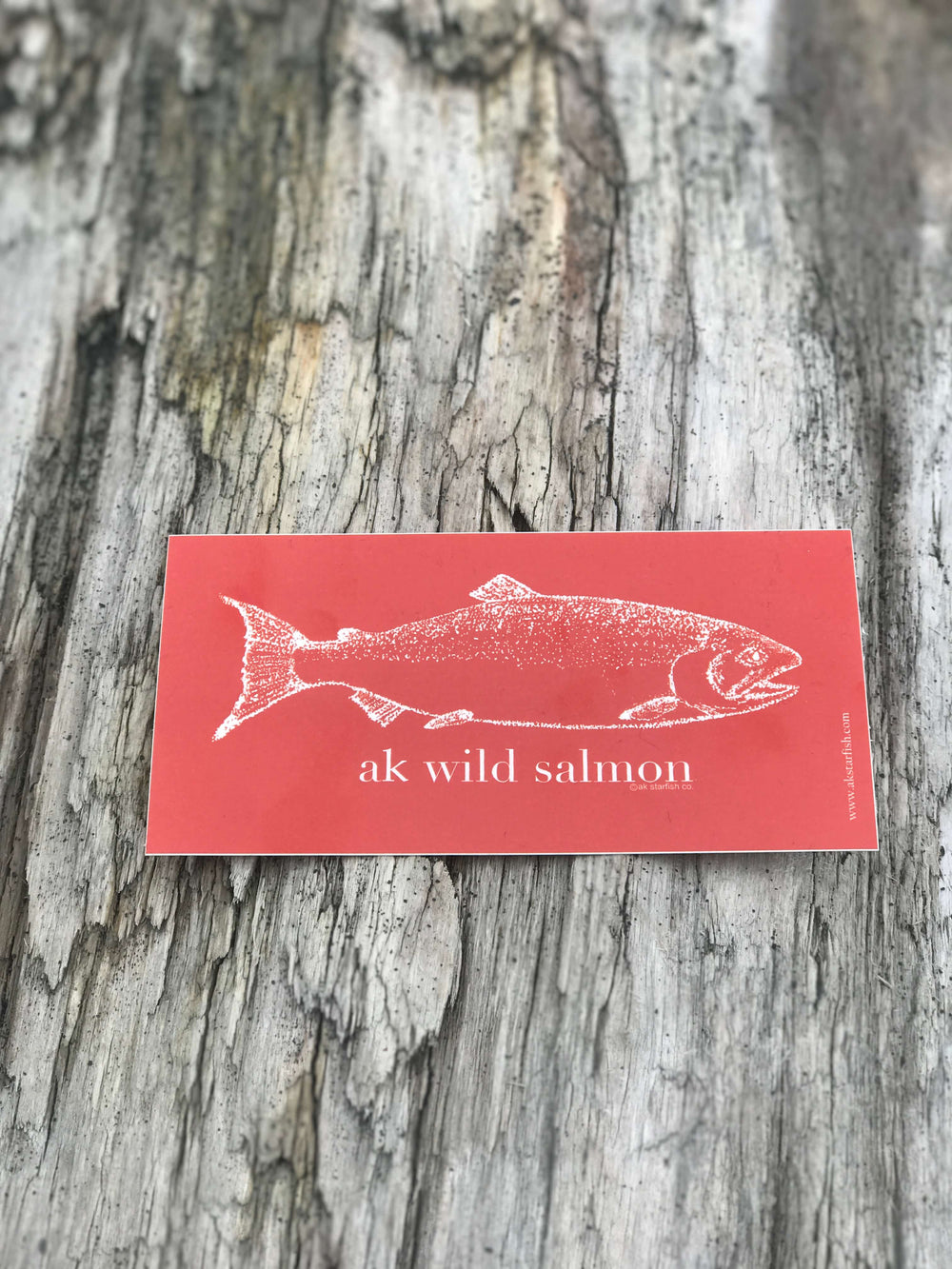 Beach Red AK Wild Salmon Sticker $6.00