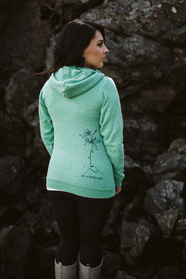 Beach Grass AK Wildflower Triblend Zipped Hoody $65.00
