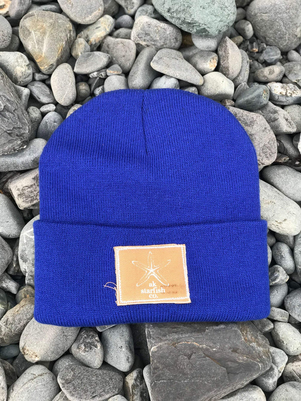 Alaska Blue AK Starfish Co. Patch Beanie $35.00