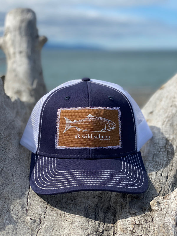 Midnight AK Wild Salmon Patch Hat $35.00