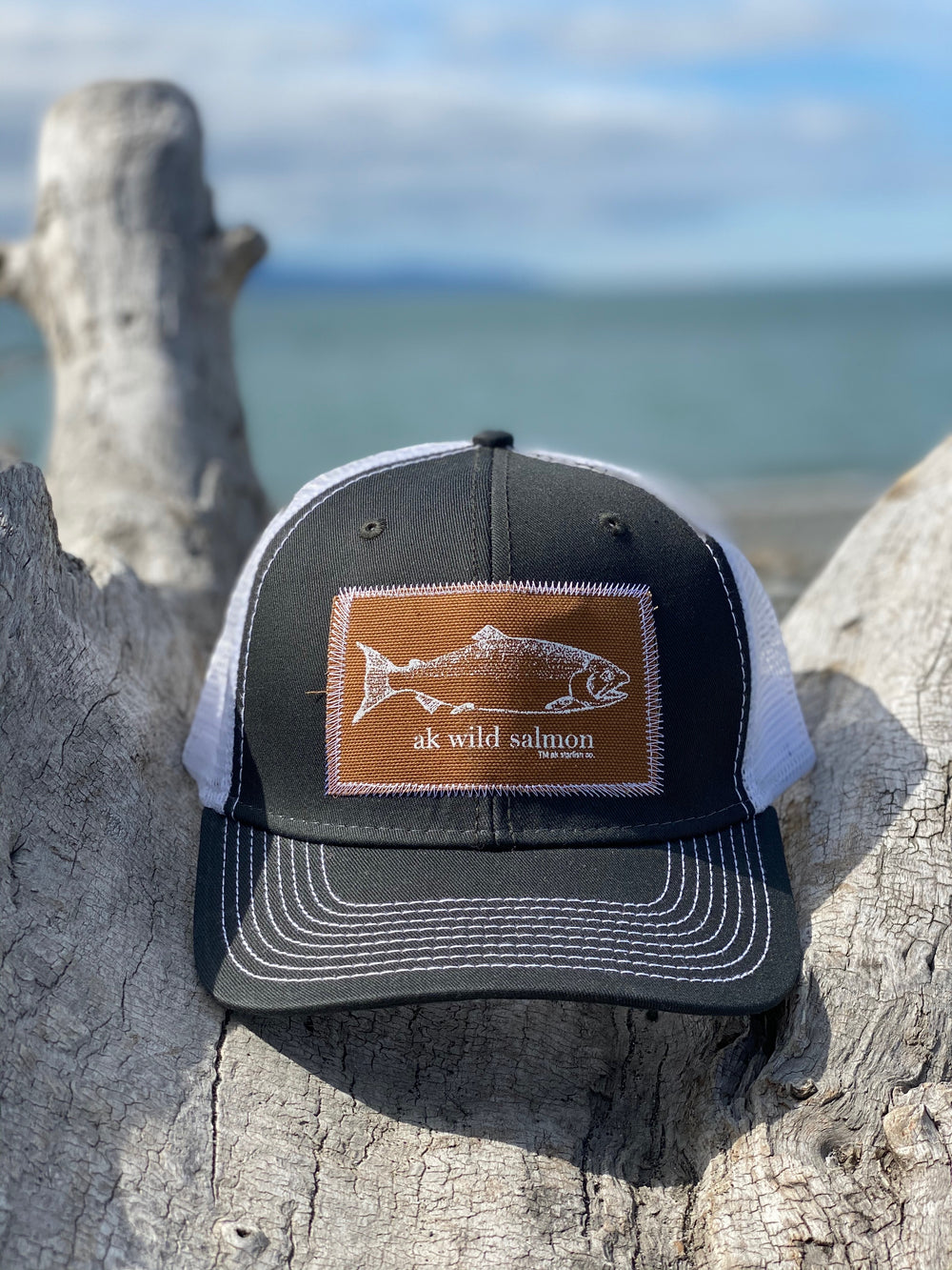 Campfire AK Wild Salmon Patch Hat $35.00