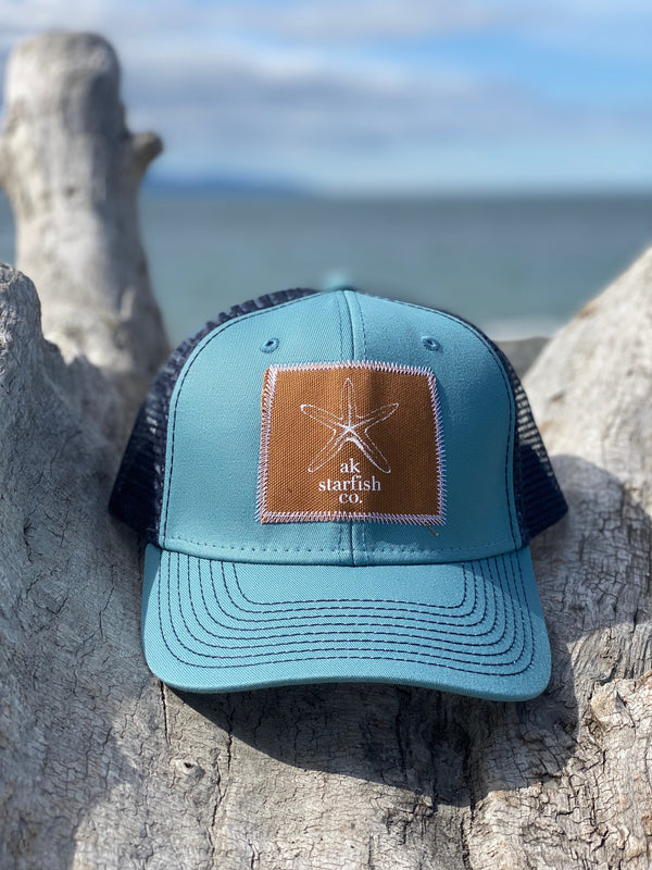 Ice Fishing and Midnight AK Starfish Co. Patch Hat $35.00